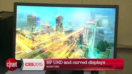 CES 2015 : les moniteurs incurvés 4K et 5K de HP