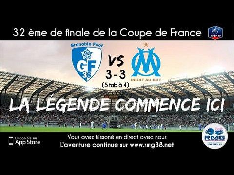 Résumé rencontre GF38 - OM le 04/01/15 - Coupe de France