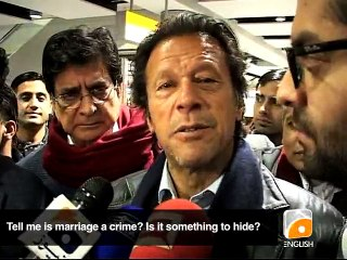 Imran's diplomatic answers on marriage