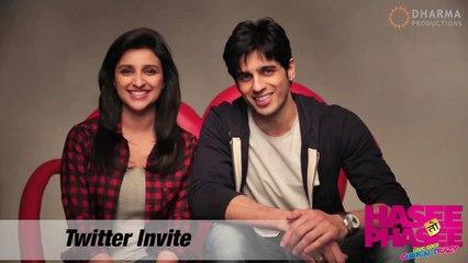 Parineeti Chopra, Sidharth Malhotra - Twitter Invite - Hasee Toh Phasee