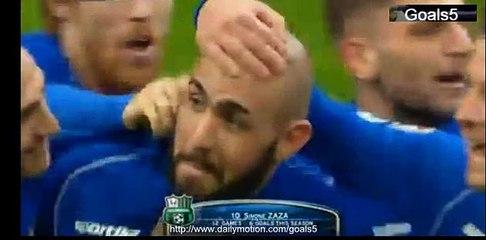 Simone Zaza Goal AC Milan vs Sassuolo 1-2 Seria A 06-01-2015
