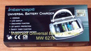 Intercept Battery Charger Review AAA AA C D PP3 MW6278