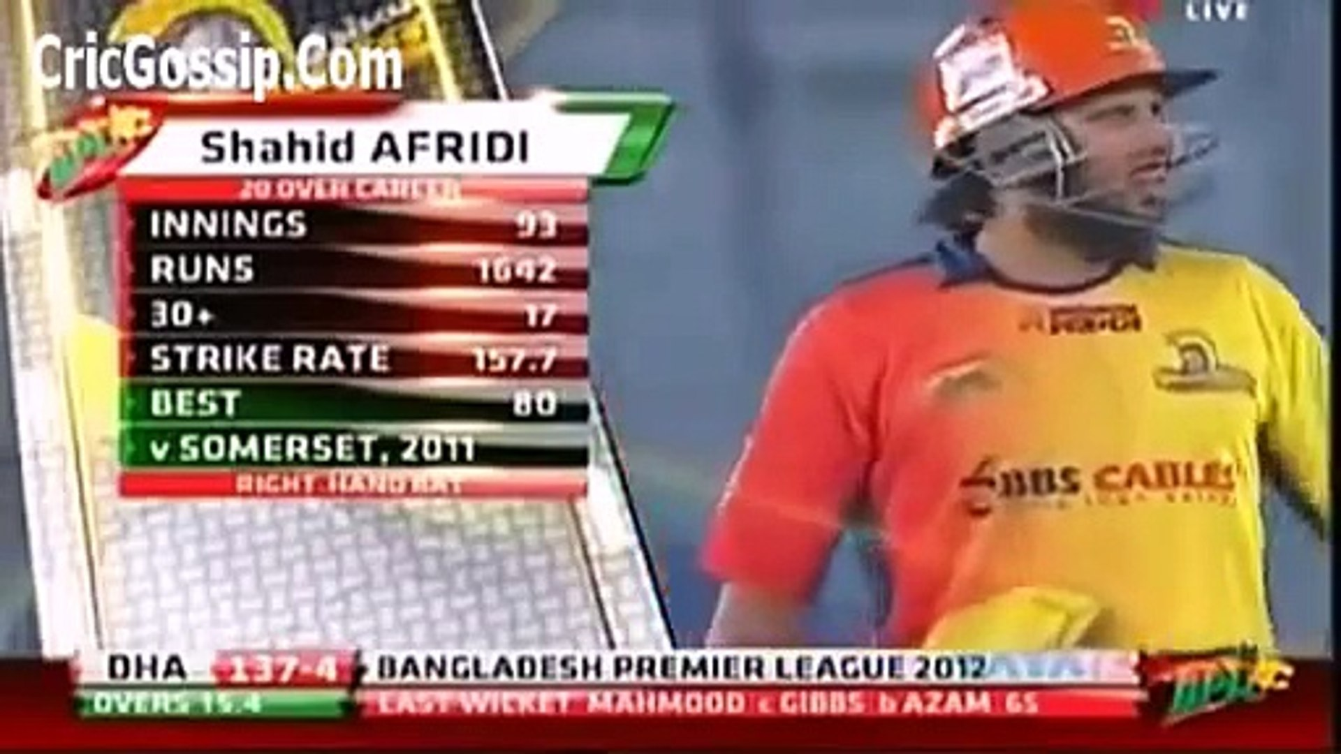 WORLD BIGGEST SIX OF shahid AFRIDI OF 230 METRE 2013 In Cricket History