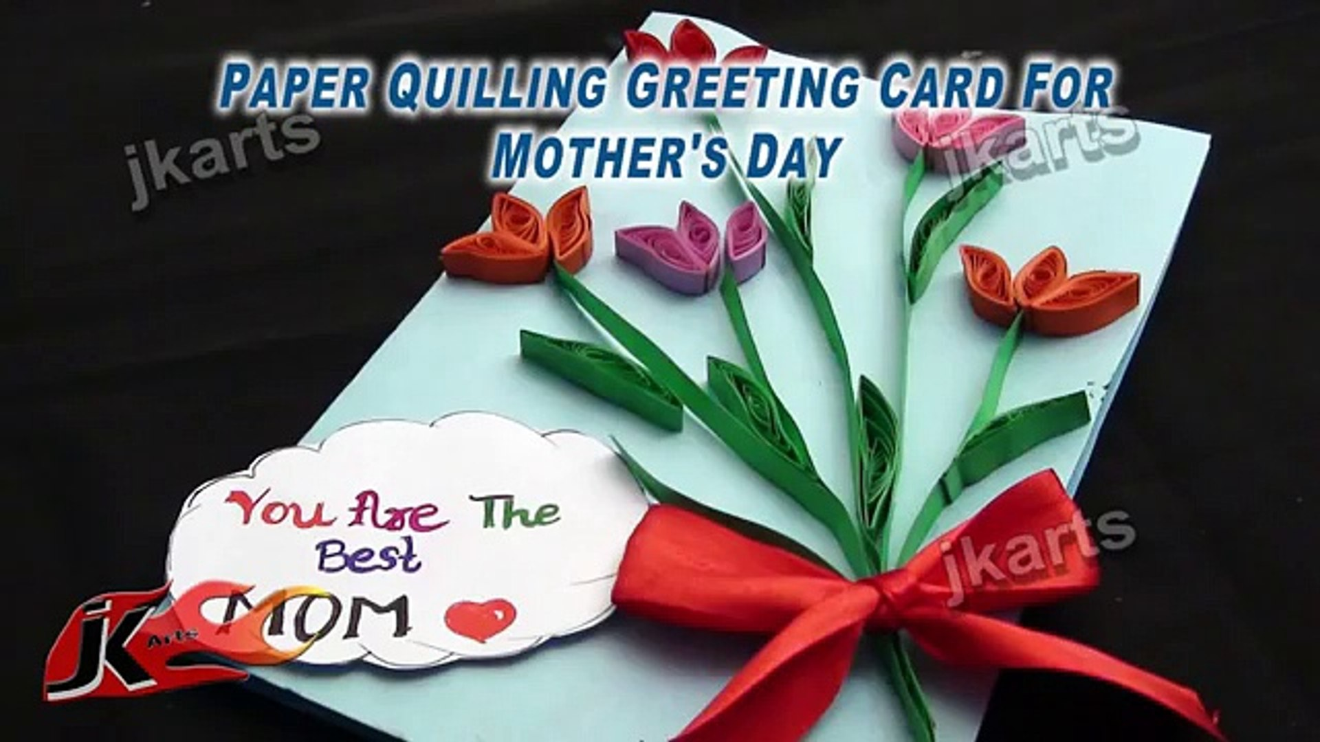 Marvelous Diy Paper Quilling Greeting Card For Mothers Day 194 1 Video Personalised Birthday Cards Cominlily Jamesorg