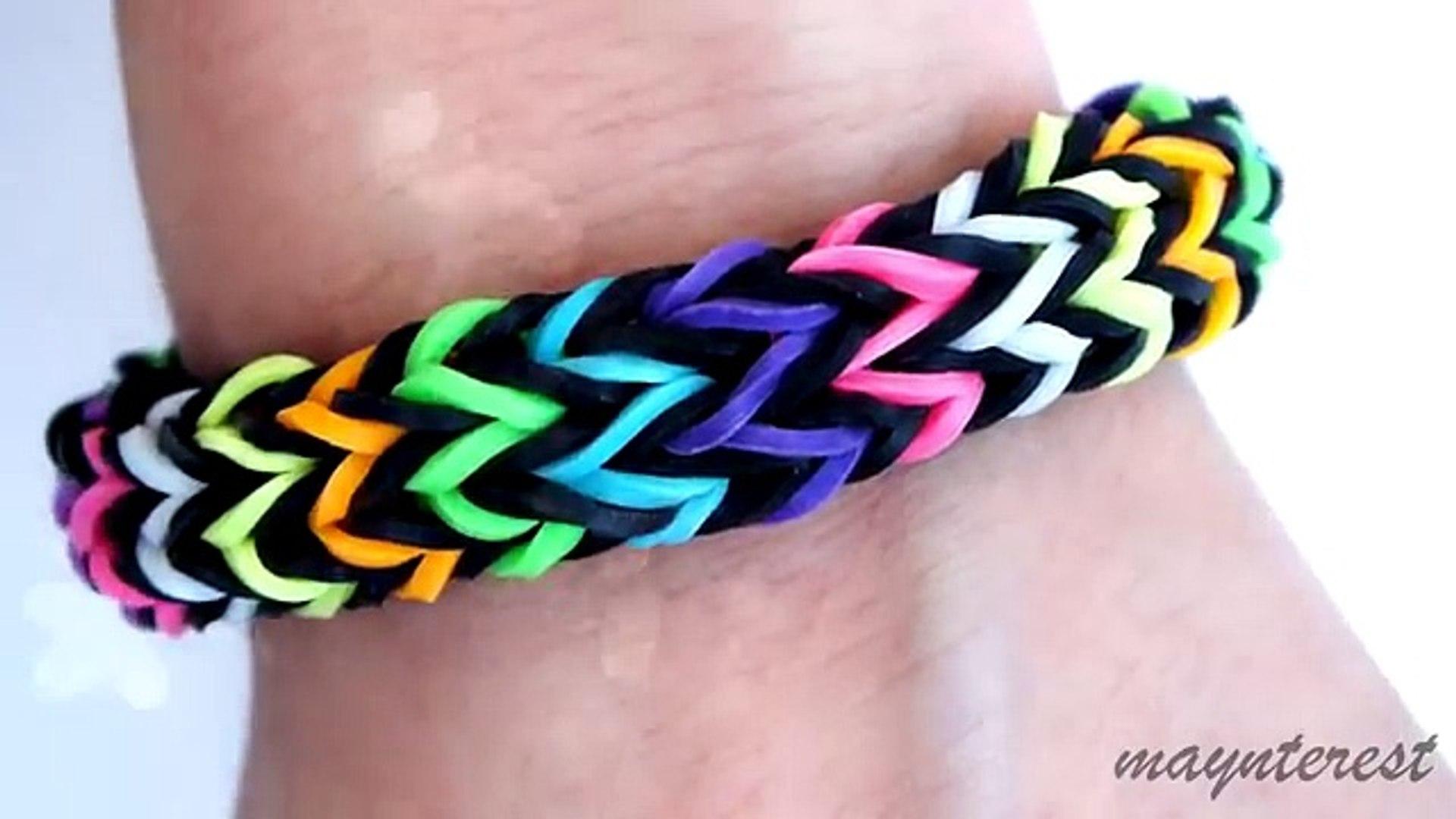 d8694c04b991 Pulsera de gomitas Zigzag multicolor (SIN TELAR-CON TENEDORES - NO LOOM) (1)