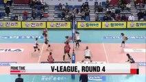 V-League: KGC vs. Hyundai E&C, Samsung Hwajae vs. KEPCO