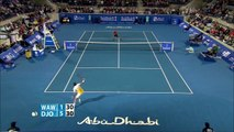 Novak Djokovic Vs Stanislas Wawrinka Abu Dhabi 2015 SF Highlights HD