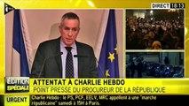 Fusillade à Charlie Hebdo. Le point presse de François Molins, procureur de la République de Paris