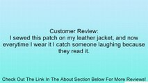 Voices Not Real But have Good Ideas Funny Biker Patch!! Review