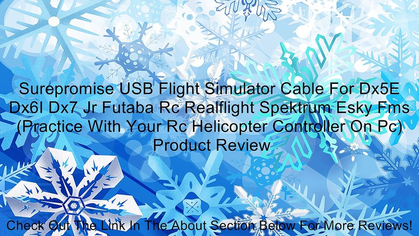 Surepromise USB Flight Simulator Cable For Dx5E Dx6I Dx7 Jr Futaba Rc  Realflight Spektrum Esky Fms (Practice With Your Rc Helicopter Controller  On Pc) Review
