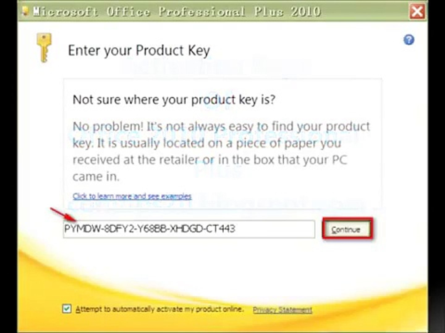 office pro plus 2010 product key