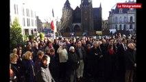 Saint-Brieuc. Charlie Hebdo : cérémonie devant la préfecture