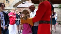 11 Year Old Girl Challenges Disney's Gaston To Arm Wrestle And The Unexpected Happens!!