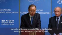 Ban Ki Moon, pape François, Matteo Renzi: des condamnations internationale contre l'attentat à Charlie Hebdo