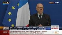 """Charlie Hebdo / Montrouge: """"Aucun élément ne permet à ce stade d'établir un lien entre ces deux événements"""", Bernard Cazeneuve (14/14) - 08/01"""
