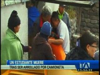 Un menor murió tras ser atropellado en Chimborazo