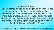 "The Ear Pin Sterling Silver ""Whispering Angel Wings"" Earrings Review"