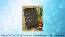 Winston Gray Slate Chalkboard & Easel - Menu Message Board Review