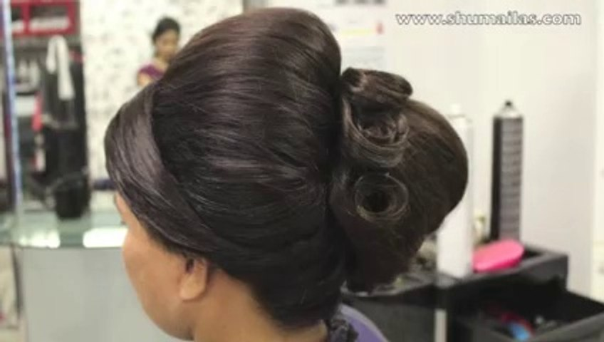 Beehive Hairstyle - Indian, Pakistani, Asian Bridal Hair Style - Wedding Hairstyles for Short Hair