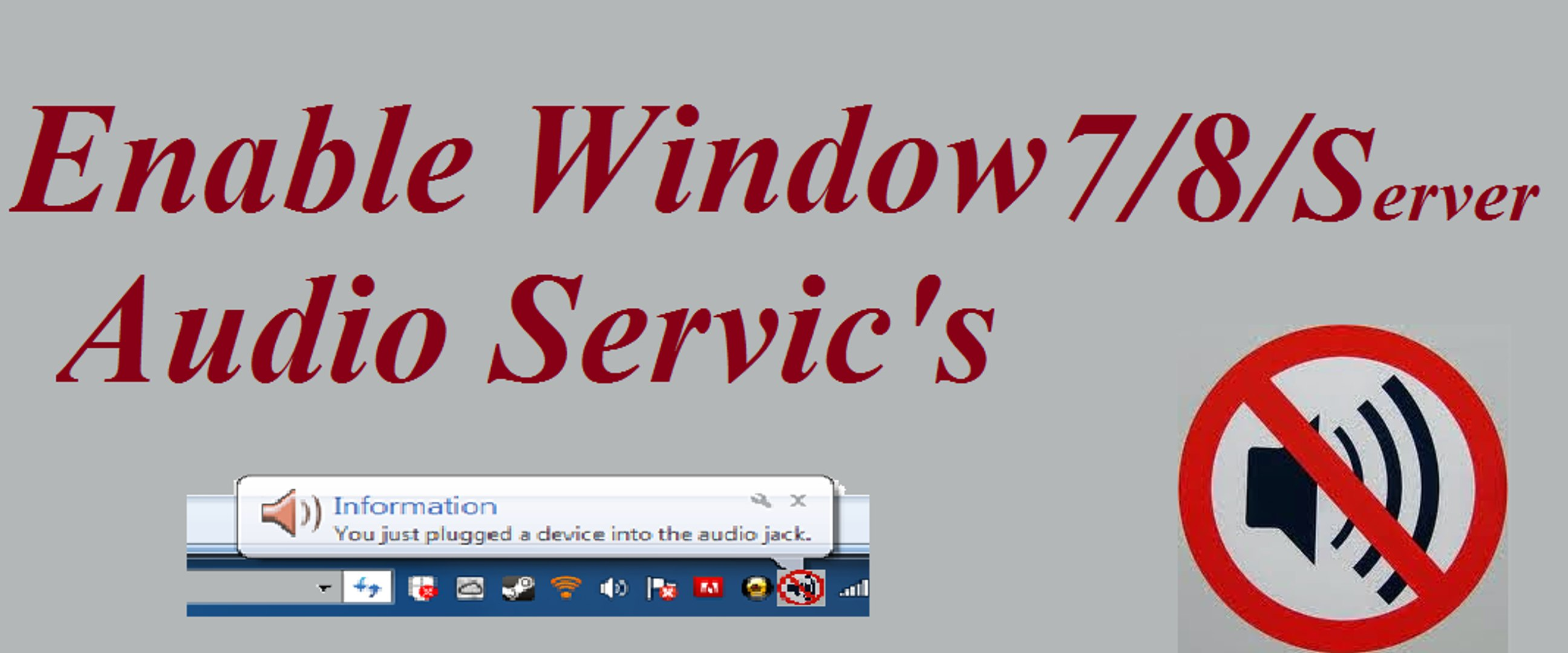 How to Enable Window Audio Sercives