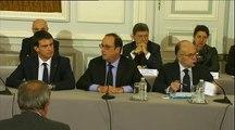 """Marche pour """"Charlie Hebdo"""": """"Tous les citoyens peuvent venir aux manifestations"""", déclare Hollande"""