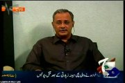 GEO Aaj Shahzaib Khanzada Kay Sath with MQM Haider Abbas Rizvi (08 Jan 2015)