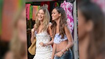 Victoria's Secret Angels Behati Prinsloo And Joan Smalls Film Secret Project In Puerto Rico