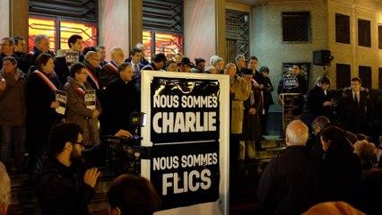 Nous sommes Charlie - Nous sommes flics - La Marseillaise à Poissy