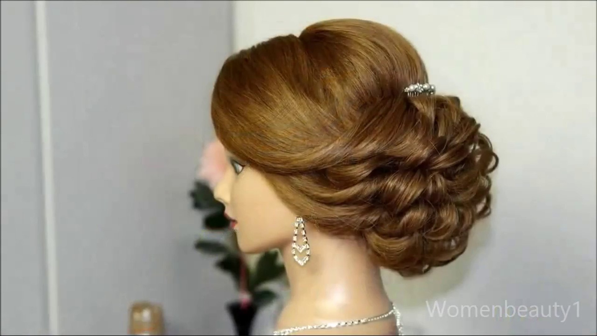 romantic wedding updo tutorial