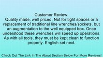 EZ RED LW4M Ratcheting Flare Line Wrench Set Metric, 4-Piece Review
