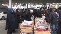 Pazarcılar, 6 Ton Sebze-meyveyi Bedava Dağıttı