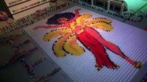 500.000 Domino taşı ile muhteşem bir gösteri ( Dünya Rekoru )