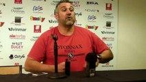 Rugby Top 14 - Christophe Urios réagit après Oyonnax - Montpellier - 1ère partie