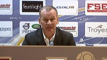 Réaction de Jean-Marc Furlan après ESTAC Troyes - Stade Brestois 29