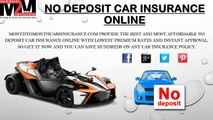 Car Insurance Quotes With No Deposit Online