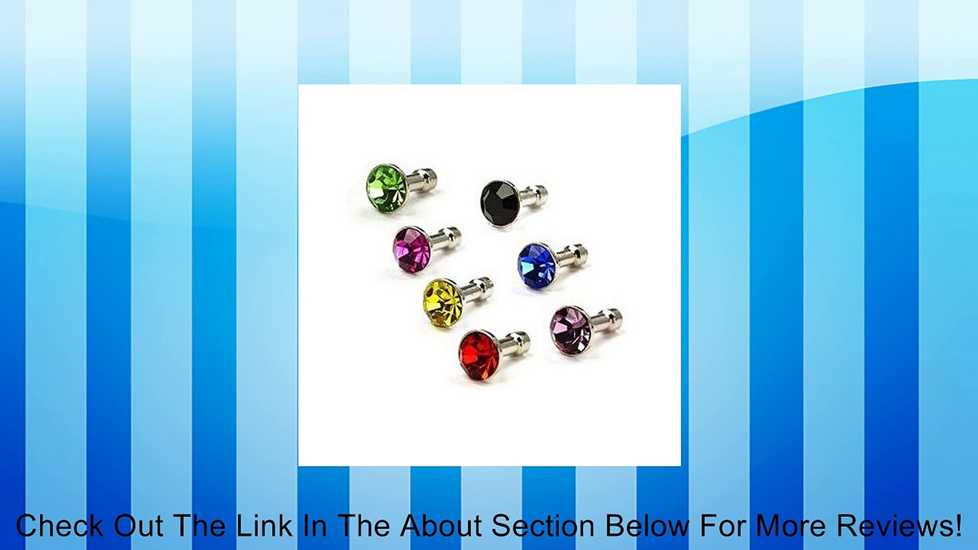 COSMOS � Diamond Style 3.5mm Pack of Blue/Purple/Hot Pink/Green/Black/Red/Gold Anti-dust Plug Stoppe