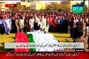 Funeral of 4 MQM Workers Offered at Jinnah Ground Karachi
