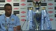 Manchester City 3-2 QPR - Mancini and Kompany's reaction as City win Premier League