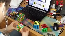 World's Fastest Rubik's Cube Solver-- 2x2 - 7x7 Rubik's Cube World Record 6.23.81 Sec