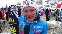 Interview de Lizeroux, 9ème du Slalom d'Adelboden - Vidéo FFS/EUROSPORT