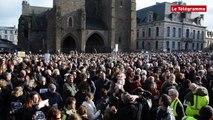 Saint-Brieuc. 30.000 personnes pour Charlie