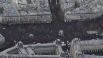 Images aériennes de la manifestation républicaine