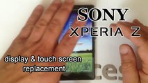 Sony XPERIA Z LT36i - Touch Screen Glass Digitizer & LCD Display replacement, Brocken Glass