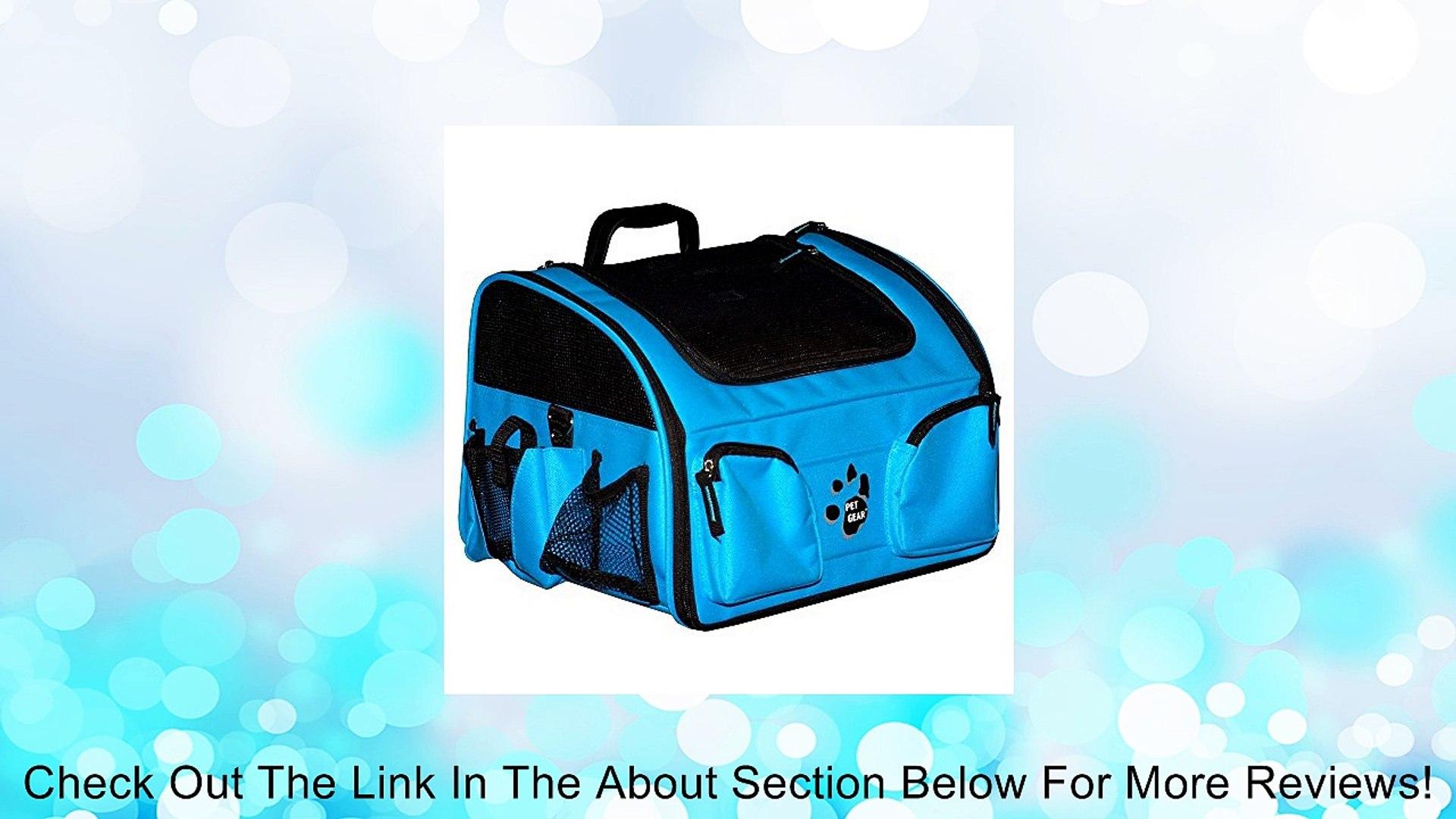 Pet Gear Pet Gear Pet Bike Basket 3-in-1, Ocean Blue, Fabric Bike Baskets, Small Review