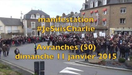 manifestation #JeSuisCharlie à Avranches - dimanche 11 janvier 2015