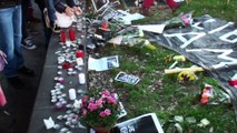 Je suis charlie Nice le 11 01 2015 Place Garibaldi.