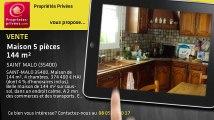A vendre - maison - SAINT MALO (35400) - 5 pièces - 144m²