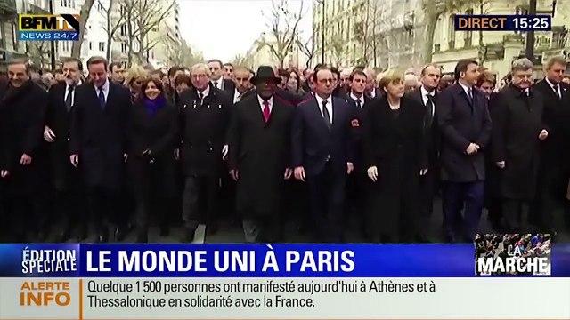 Comment Sarkozy tape l'incruste à la marche du 11 janvier 2015