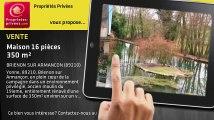 A vendre - maison - BRIENON SUR ARMANCON (89210) - 16 pièces - 350m²