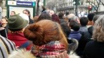 Marche Républicaine : boulevard Magenta au niveau du Métro Jacques-Bonsergent